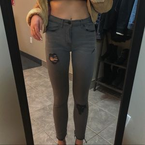 BDG Grey mid rise jeans